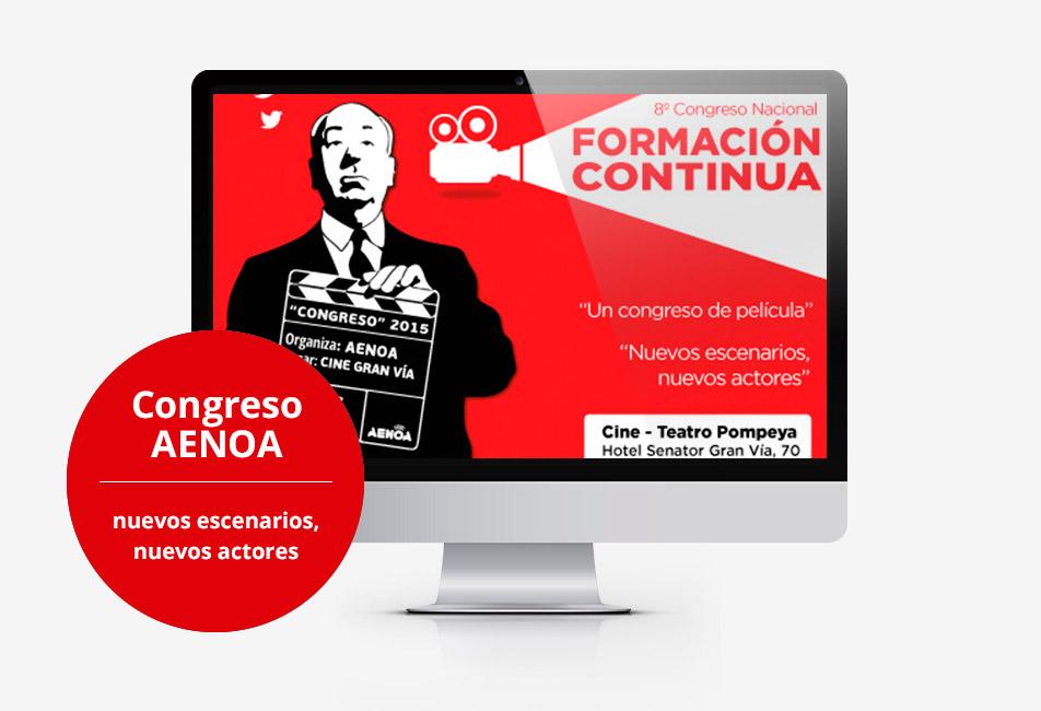 Acceso web del VIII Congreso Nacional de Formación Continua
