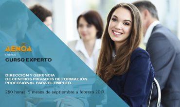 Curso Experto en Dirección y Gerencia de centros privados de Formación Profesional para el Empleo. Septiembre 16′- Febrero 17′