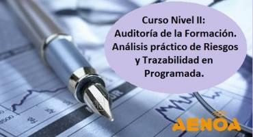 Curso Nivel II: Auditoría de la Formación  Análisis práctico de Riesgos y Trazabilidad en Programada
