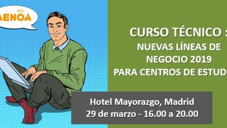 Curso: Nuevas Líneas de Negocio 2019 para centros de estudios.