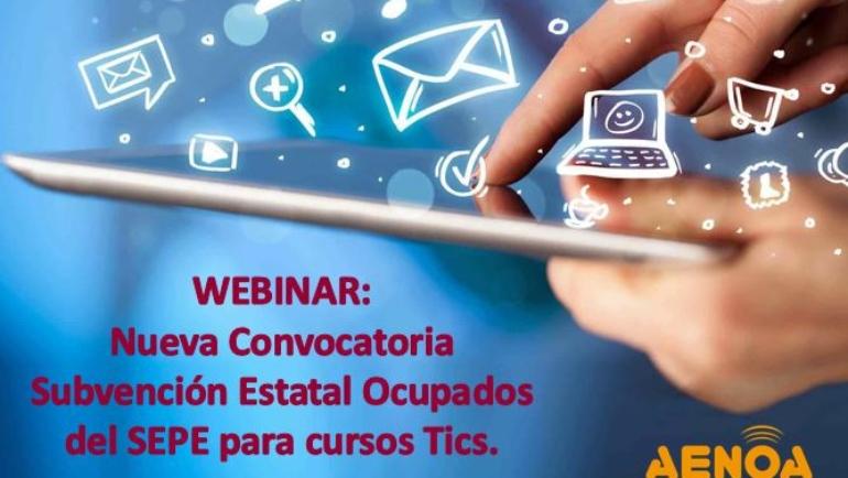 Curso: Nueva Convocatoria Subvención Estatal Ocupados del SEPE para cursos TICs y sector turístico.