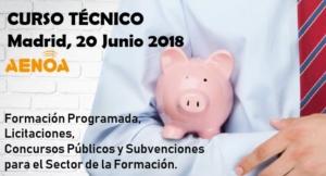 Curso técnico subvenciones licitaciones concurso público formacion programada continua bonificada