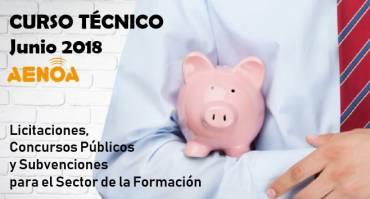 Licitaciones, Concursos Públicos y Subvenciones para el Sector de la Formación.