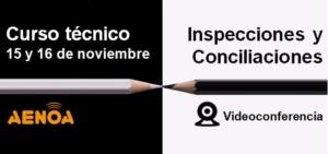 webinar aenoa conciliaciones inspecciones formacion continua programada bonificada