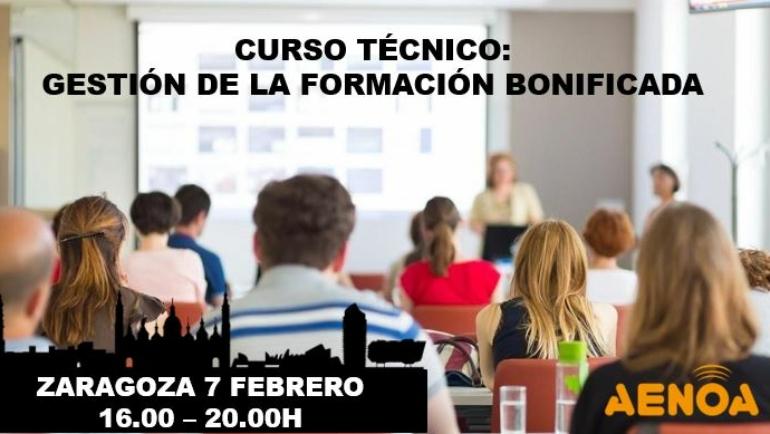 Curso técnico: Gestión de la Formación Bonificada. Zaragoza.