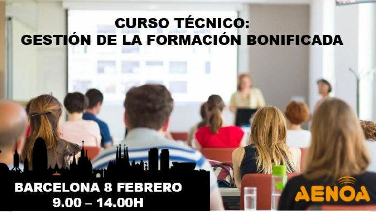 Curso técnico: Gestión de la Formación Bonificada. Barcelona.